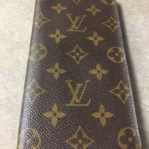 Louis Vuitton Checkbook Cover/Wallet